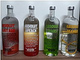 Absolut ruby red apeach pears mango originais