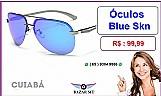 Bazar mt - oculos de luxo masculino slim duo blue ( cuiaba )