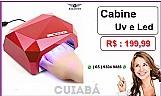 Bazar mt - cabine forno uv e led 36w bivolt profissional ( cuiaba )