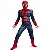 Fantasia infantil homem aranha com musculos