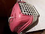 Caixa de transporte zoo plast rosa n1 caes e gatos