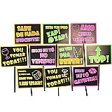 Placas animadas mix balada neon ( 10 un )