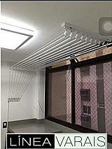 Varal de teto individual 6 varetas (0,   50 x 1,   00 m) na cor branca