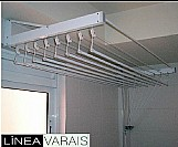 Varal individual teto / parede 8 varetas (0, 60 x 0, 90 m) na cor branca