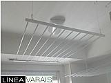 Varal tradicional aluminio 10 varetas de 3/8 (0, 85 x 1, 00 m)