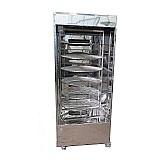 Maquina de assar frango giratoria 120kg (assador de carnes e frangos) totalmente inox