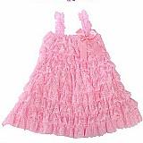 Vestido infantil 2 anos 48 cm comp.x54 cm busto cor rosa