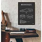 Pôster nissan 300zx - interlakes - quadro carro