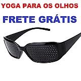 Óculos yoga olhos reticulado furadinho   frete gratis