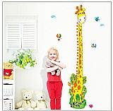 Adesivo de parede regua do crescimento infantil