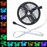 15m fita led colorida rgb 5050 sanca 1xfonte 15a 1xcr 2xamp