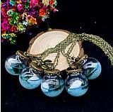 Colar de pingente de frasco de vidro estilo luminoso marinho