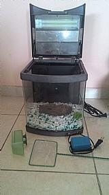 Aquario boyu curvo preto 32 litros (usado)