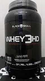 Whey 3 hd 900g - r$100, 00 - caveira preta - black skull