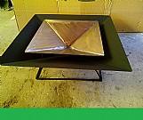 Lareira externa lenha / carvao artesanal 50cm x 50cm.