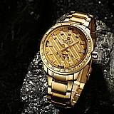 Relogio naviforce gold luxo