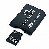 Cartao de memoria micro sd 8gb   adaptador sd mc004