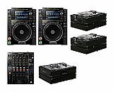 2x pioneer cdj-2000nxs2   djm-900nxs2   black label cases