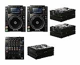 2x pioneer cdj-2000nxs2   djm-900nxs2   black label cases