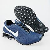 Tênis nike shox junior preto e azul