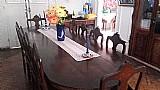 Mesa de jacaranda macico com 10 cadeiras