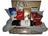 Cestas de chocolate com vinho delicias