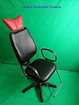Cadeira reclinavel para maquiagem e designe  de sobrancelha
