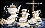 Conjuntos franceses de cafe e cha de porcelana