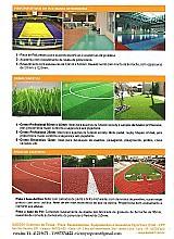 Tintas em poliuretano ou epoxi para quadras - gramas sinteticas