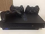 Playstation 2 destravado,  3 controles e   de 45 jogos
