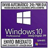 Sistema operacional microsoft windows 10 pro – 32 / 64 bits – esd envio por e-mail