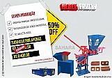 Prensa para tijolo com triturador mais maleta azul super kit