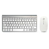 Kit teclado e mouse sem fio combo set 2.4g  para apple mac  windows xp/7/10 ios