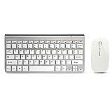 Kit teclado e mouse sem fio combo set 2.4g  para apple mac  windows xp/7/10 ios