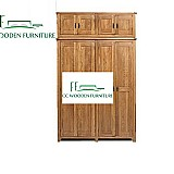 Continental pastoral style four-doors wardrobe solid wood wardrobe sagers armoire