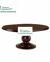 American country style wooden round dining table & dining chairs