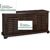 American style ash wood cabinet 3 door cabinet accent cabinet