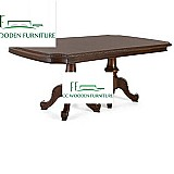 American style wood dining table & chair