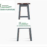 Birch solid wood bar stools