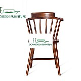 Nordic wood backrest chair american chair windsor chair for dining room patio furniture
