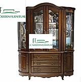 Simple european solid wood cabinet bar cabinet wine storage