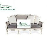 American birch sofa european solid wood sofa leather sleeper sofa