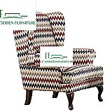 American country style single sofa chair leisure high chair sleep sofas