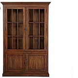 American country style wood bookcase oak closet book shelves