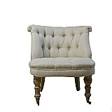French european country linen oak sofa home office furniture