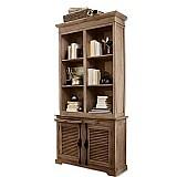 French style wood bookcase oak bookcase bookshelves