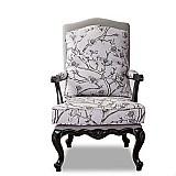 French style wood chair study room chair sleeper sofa