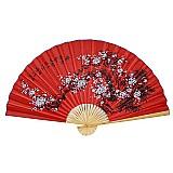 Leque de parede para decoracao 160 cm vermelho sakura