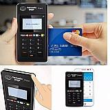 Maquininha de cartao de credito e debito com chip ou tarja magnetica- mini point