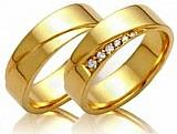 Linda aliancas de casamento